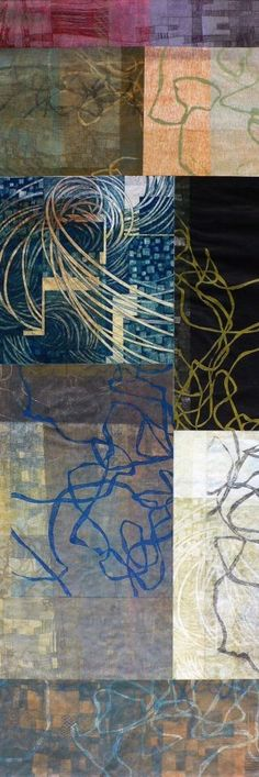 Collages « Bill Hosterman Printmaking  *tracing paper, construction paper, white paper & foam prints