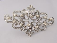 Wedding Jewelrybridal broochpearl wedding by happylifeforever, $52.00