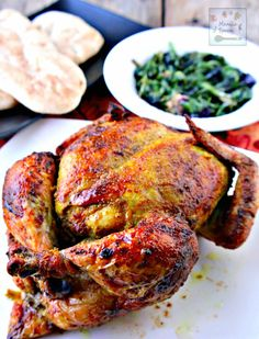 Flavored with aromatic spices, this whole roast Masala Chicken (Indian-style) comes out so yummy! The skin is deliciously crisp and the meat is tender and moist. This roast is very easy and quick to prepare, too.