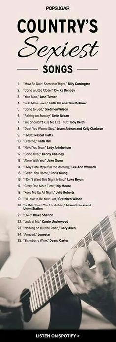 I'm not a country music fan.but I do like some of these. Minus a few, like Carrie and Faith I can do without.: I'm not a country music fan.but I do like some of these. Minus a few, like Carrie and Faith I can do without.: lyrics for him country Beste Songs, Music Mood, Song List, List Of Songs, Cowgirl Style, Cowboy Love, Cowgirl Tuff, Cowgirl Outfits, Western Style