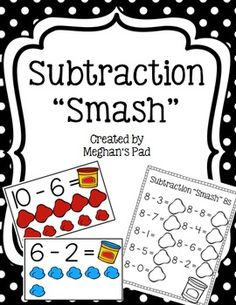 Subtraction Smash is a fun, hands on way to practice subtraction.  Children can…