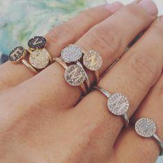 Ring ring ring...such a precious little thing #minitials #minitialsmoments #Aeon #rings #ring #diamonds #diamond #pushgift #pushpresent #weareinlove #bridalinspiration #weddingring #engagementring #engagement #present #jewellery #jewelry #fashionstatement #fashion #18k #solid #gold #love #loveofmylife #stackingrings #weddinggift #engagementinspiration #baby #birthgift #love #headoverheels  WWW.MINITIALS.COM