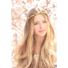 Wire Pip Berries Crown Bribemaid Headband Garden Wedding (2185 ALL) ❤ liked on Polyvore featuring accessories, hair accessories, hair, headbands & turbans, yellow, headband turban, head wrap headband, hair band headband, headband crown and turban headband