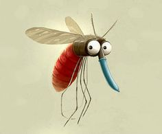 Currently browsing Mosquito for your design inspiration Cartoon Drawings, Animal Drawings, Cute Drawings, Cartoon Art, Character Art, Character Design, Whimsical Art, Metal Signs, Metal Wall Art