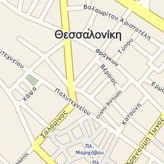 Χάρτης Θεσσαλονίκη ΘΕΣΣΑΛΟΝΙΚΗΣ   vrisko.gr