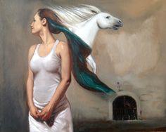 """Susy Saulle """"sogno"""" contemporary figurative oil paint"""