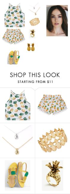 """""""Pineapple"""" by jasmine12cummins ❤ liked on Polyvore featuring INC International Concepts, Talbots and Ann Taylor"""