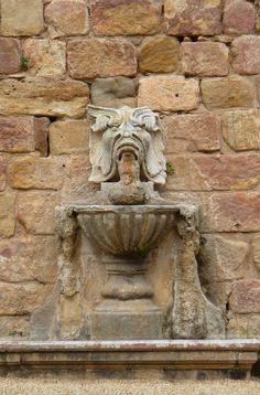 Fountain at Abbaye de Fontfroide