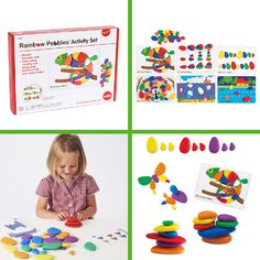 This is a complete and unusual school readiness set in a box. Use the brightly coloured slightly rubbery and nicely weighted pebbles to complete the 24 challenge cards. This game encourages the skills of copying and visual memory, problem solving, counting, colour sorting, matching and much more. Children can also create their own free play constructions and pictures with the pebbles. Challenge Cards, Visual Memory, Sequencing Activities, School Games, School Readiness, Fine Motor Skills, Problem Solving, Sorting, 6 Years