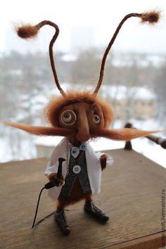 Купить О наболевшем..)) - коричневый, подарок стоматологу, шерсть