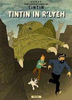 Tintin in Innsmouth by muzski