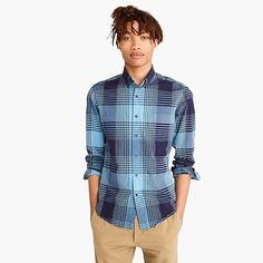 men's stretch secret wash shirt in bold plaid - men's woven shirts
