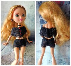 Underwear of black lace for dolls Ever After High by Dress4bjd on Etsy