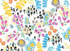 Studio Legohead: Floral Doodle Pattern