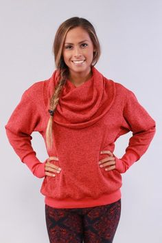 Cozy Orange- Phoebe Yoga Pullover