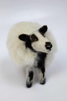 Needle felted Welsh Badger faced sheep