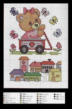 ! Gráficos Para Bordados: Ursinhos