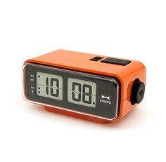 Digital Flip Clock by Bruno Travel Alarm Clock, Alarm Clocks, Clock Shop, Retro Clock, Home Safety, Security Cameras For Home, Safety And Security, Design Museum, Orange