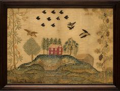 Antiques & Fine Art - Nichols, Thurston American Antiques - Montgomery County Sampler