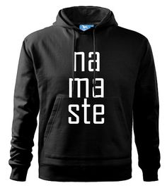 Namaste Men's Hooded Sweater In many colours Yoga by DrasiShop