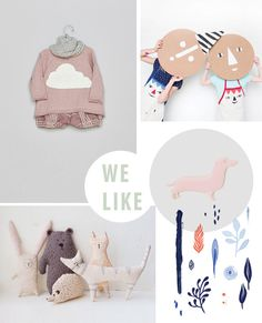 { 1. Cloud jumper ; 2. Cardboard faces ; 3. Sausage dog pin ; 4. Stitched animals ; 5. Little things print } As you might have read on the Bloesem's instagram page, we are currently working on a special...