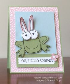 Playful Pals, Honeycomb Happiness, Crazy About You, Stampin' Up!, Brian King, Easter