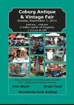 Coburg Antique Fair... Coburg OR Sept 7th 2014... awesome show! get there early to get all the good stuff!