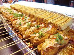 grilled stinky tofu skewers, Taiwan