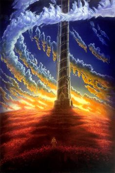 This is The dark tower Roland has to get to. In order to get there however Nolan needs the man in black