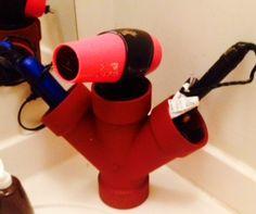"""3"""" double Y in plumbing terms! Spray painted it deep orange."""