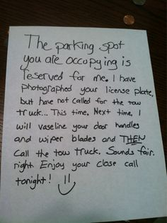 assigned parking letter