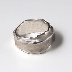 Wrap No.1 - Sterling Silver Ring , Unisex Ring , Wedding Ring , Wedding Band , Mens Ring. $100.00, via Etsy.