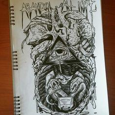 #Abandonallhope #newgeneration #draw #illuminati #computer #sketchbook