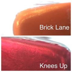 Fashion-size Brick Lane & Knees Up These are two fashion-size butter London polishes. Brick Lane is a shimmery pumpkin, and Knees Up is a stunning red foil. Butter London Makeup