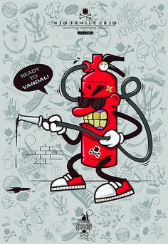 Funny Extinguisher by Dimi - illustration 2012.   Flickr - Photo Sharing!