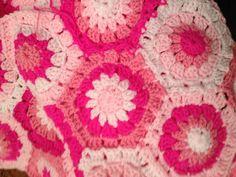 Pink hexagons via Attic24 pattern in Stylecraft DK