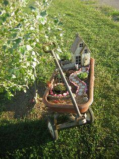 Wagon Fairy Gardens - Fairy Gardening