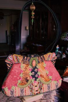 Mary Frances Beaded Victorian Granny Bag by HouseofDuverge on Etsy, $95.00
