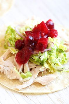 Leftover Thanksgiving turkey is transformed into quick and easy tacos! Just a few ingredients and less than 15 minutes, this is great for a quick lunch or dinner. from @skinnytaste