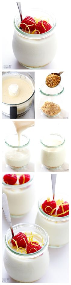 Lighter No-Bake Cheesecakes -- creamy, delicious, and made lighter with a few easy tweaks!  gimmesomeoven.com #cheesecake
