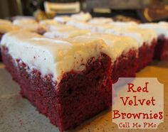 This is the Ultimate Brownie ~ Outrageous RED VELVET Brownies. Rich. Sinful. Decadent. Awesome! Great for Christmas. A MUST for Valentine! or Scary goodness for Halloween. #brownies