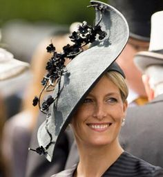 Countess of Wessex in Jane Taylor hat at Ascot 2013