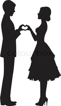 bride silhouette - Google Search
