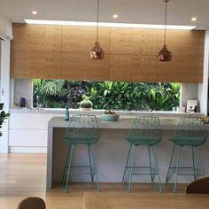 New Kitchen Window Splashback Home Ideas Kitchen Benchtops, Kitchen Stools, White Kitchen Cabinets, Kitchen Flooring, Kitchen Decor, Kitchen Windows, Kitchen Living, New Kitchen, Small Floor Plans