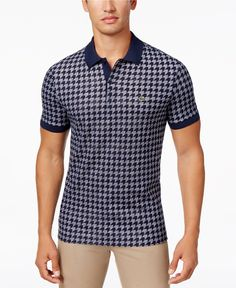 Lacoste Men's Houndstooth Cotton Polo - Lacoste Polo - SLP - Macy's