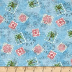 Designed by Jane Maday for Wilmington Prints, this cotton print includes colors of pink, green, tan and blue. Use for quilting and craft projects as well as apparel and home decor accents.