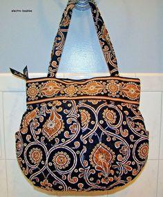 New with no tags - Vera Bradley Shoulder Bag Cafe Latte Morgan TOTE Black Brown Tan #VeraBradley #Tote #Morgan