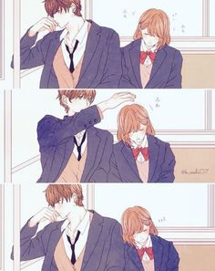 Who are these couple and from what anime/manga? Cute Couple Comics, Cute Couple Art, Cute Comics, Couples Comics, Cute Couples, Anime Couples Drawings, Anime Couples Manga, Manga Anime, Couple Manga
