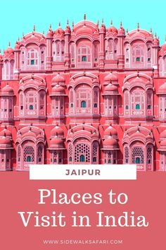 Looking for cool places to visit in India? Plan to spend 3 days in Jaipur India. India Travel Guide, Asia Travel, Travel Around The World, Around The Worlds, Top Travel Destinations, Jaipur India, Varanasi, Kochi, Vietnam Travel