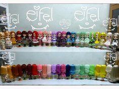 Blythe dolls by eifel85, via Flickr